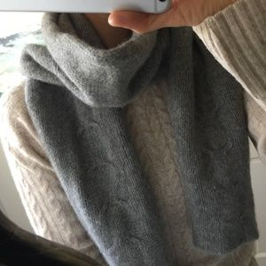 Gray Chunky Sweater Scarf/Winter Knit 🧶 Scarf